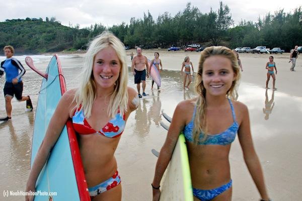 Bethany Hamilton 1st Surf 2003