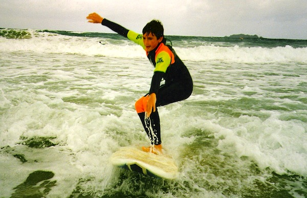 surfer dad surfing as a kid