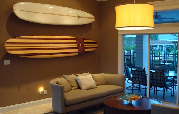 surfboard on wall