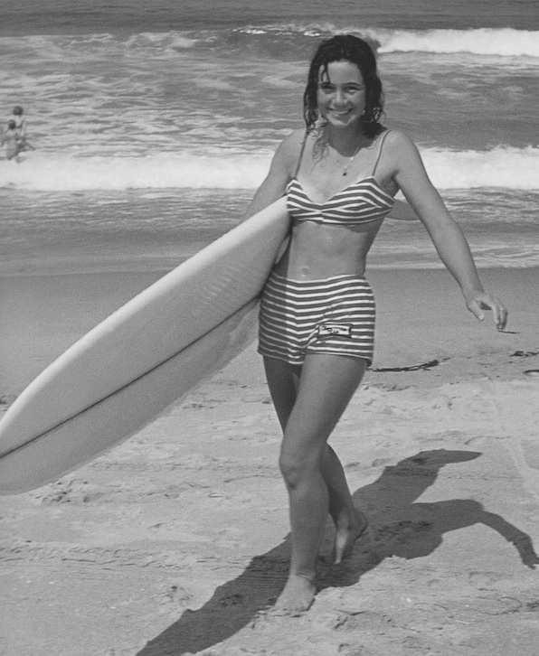 Surfer girl Gail Yarbrough