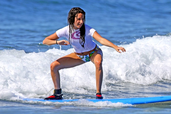 Ashley Tisdale Surfing