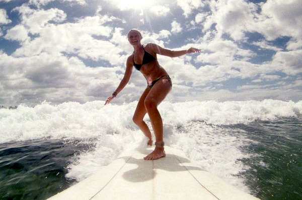 Kate Bosworth surfing