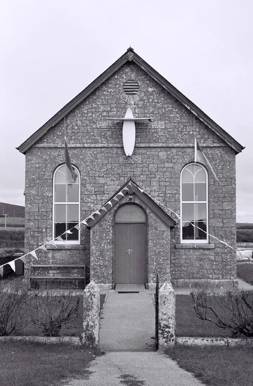 surfboard cross - Gwenvor chapel