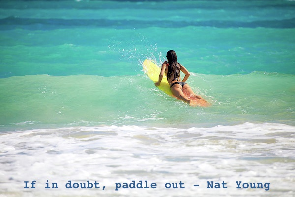 if in doubt - surfer girl paddling