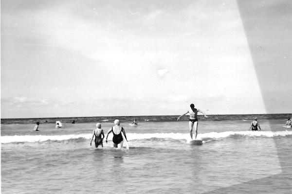 small waves vintage surfing