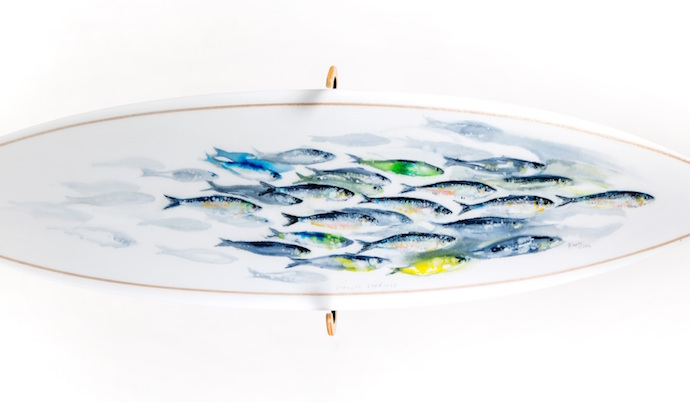 The Surfboard - Cornish Sardines by Kurt Jackson