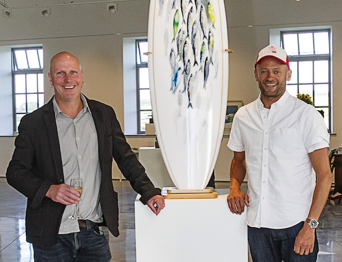 Kurt Jackson, Hugo Tagholm and The Surfboard