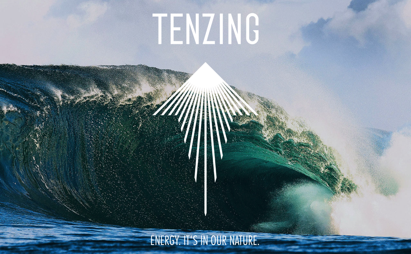 Tenzing natural energy drink - wave