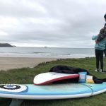 Surferdad and daughter surf check