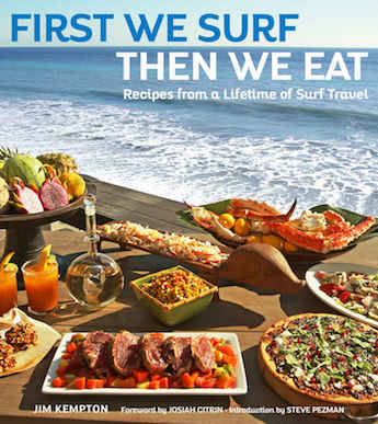 First we surf then we eat cookbook cover