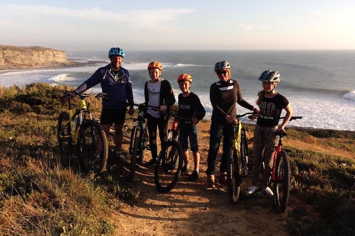 Ericeira mountain biking with family