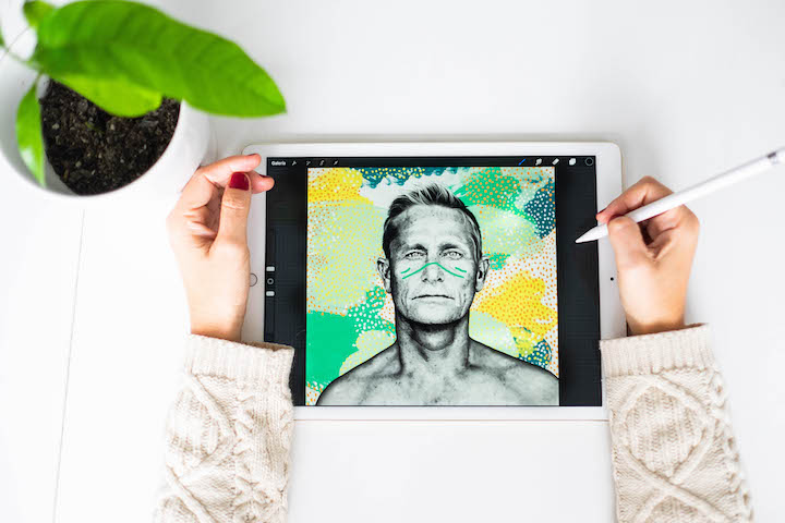 Illustrating surfer Strider by Fabi Aguilar